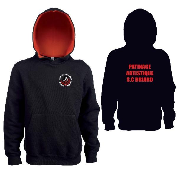 Sweat Enfant Capuche Noir (écriture rouge) Boutique